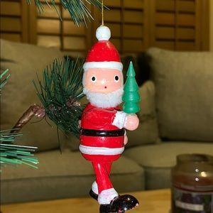 """4"""" Vtg Santa 🎅 Claus Wood Christmas tree ornament"""